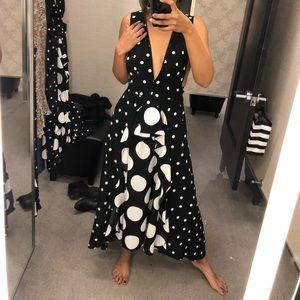 Topshop Multi Polka Dot Midi Dress